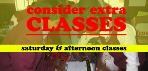 saturday and afternoon classes