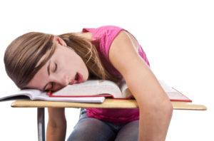 sleeping while reading