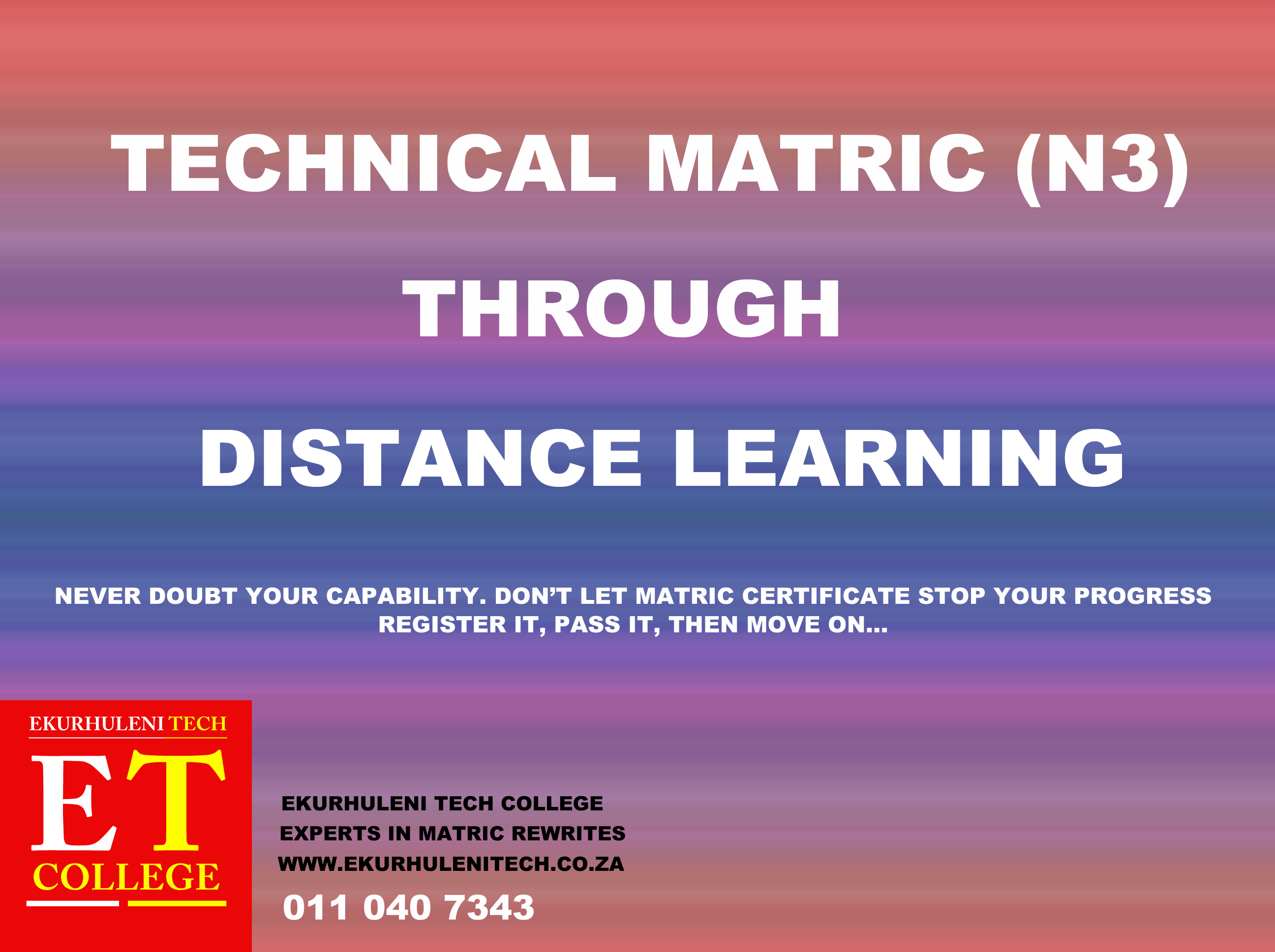 Distance Learning_Ekurhuleni Tech College
