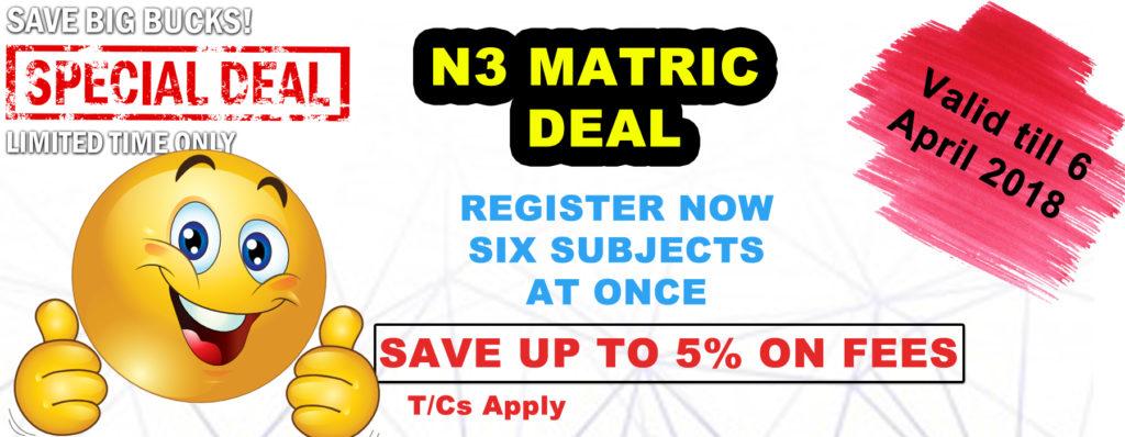 N3 Certificate Equivalent Matric Ekurhuleni Tech College