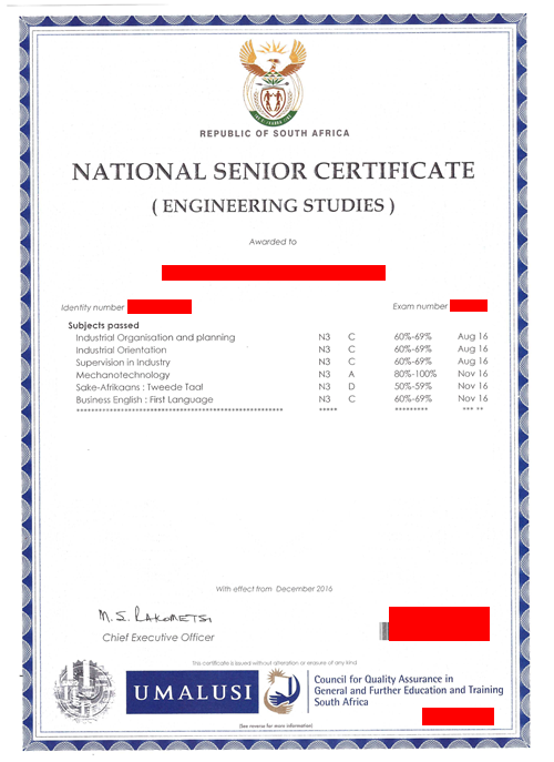 N3 Sample certificate