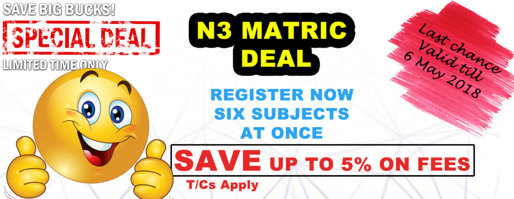 Technical Matric N3 Equivalent Special Offer