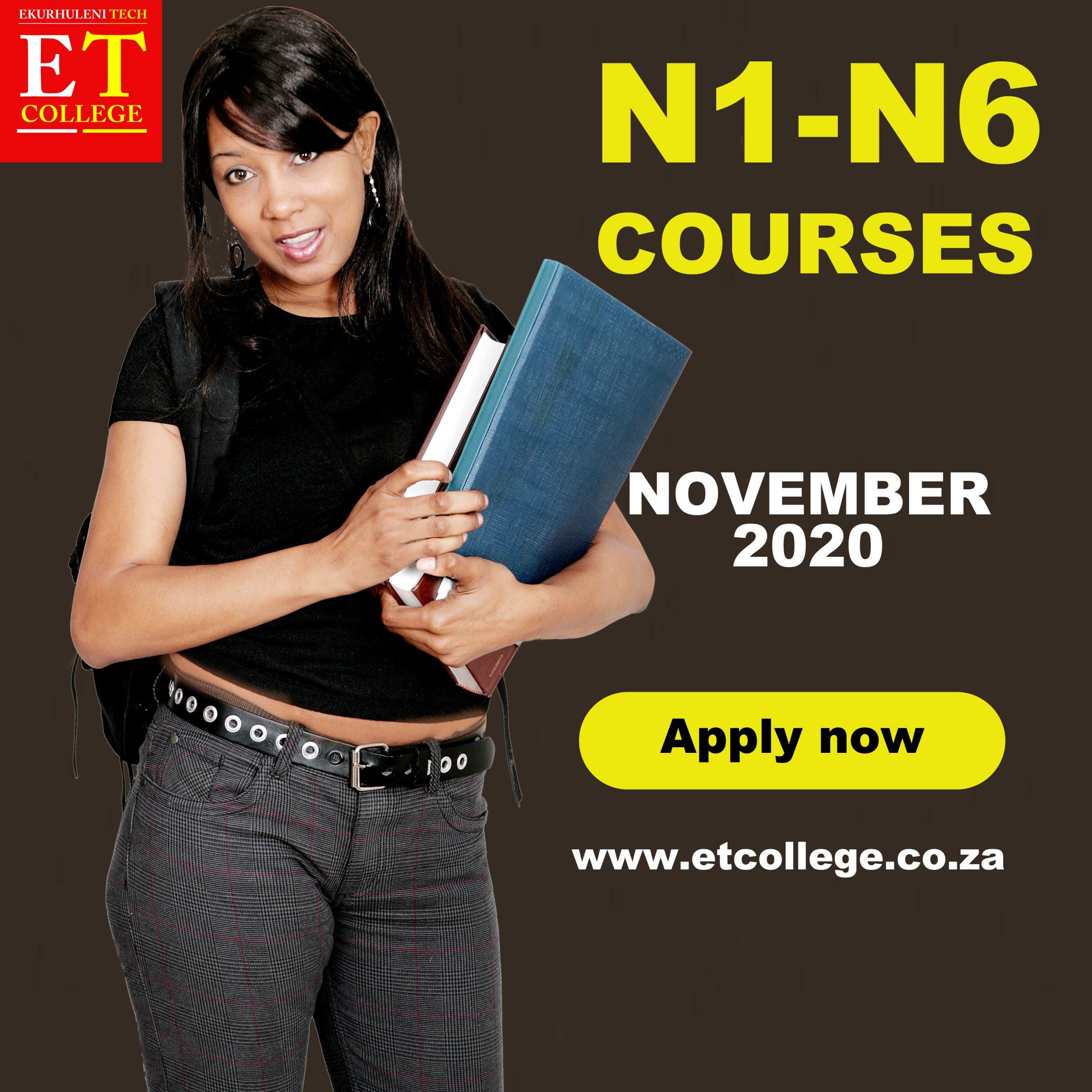 N1-N6 Engineering studies registrations