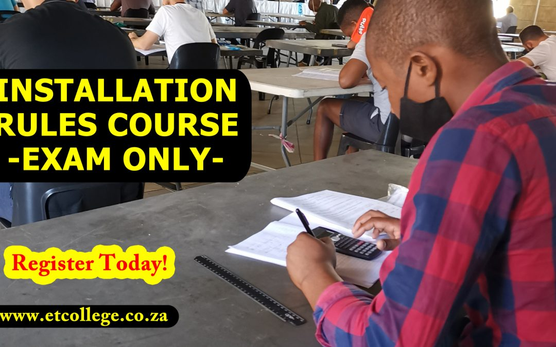 Installation Rules Course-Exam Only for 2021